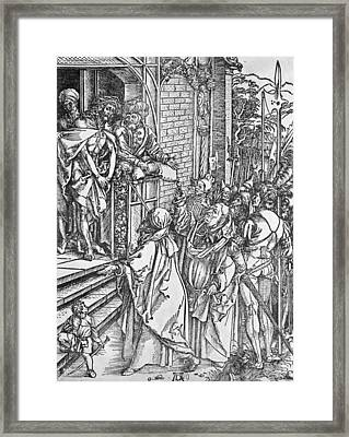 Christ Presented To The People Framed Print by Albrecht Durer or Duerer