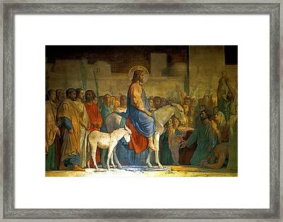 Christ S Entry Into Jerusalem Framed Print