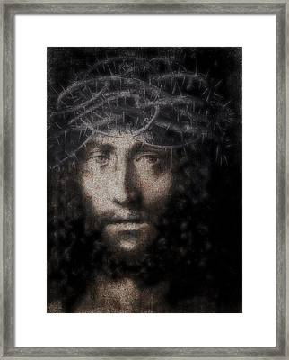 Christ Suffering Framed Print by Daniel Hagerman
