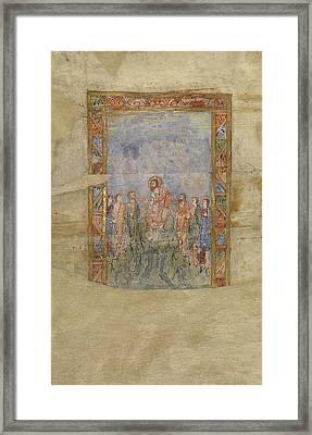Christ Teaching Unknown Canterbury Framed Print