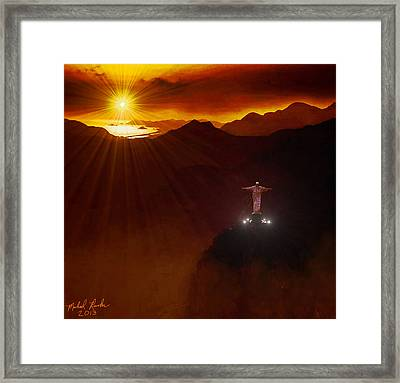 Christ The Redeemer Framed Print by Michael Rucker