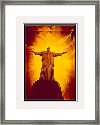 Christ The Redeemer Ver - 3 Framed Print