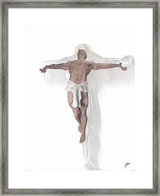 Christ Weightless Framed Print by Quim Abella