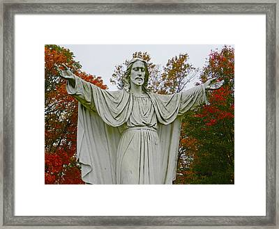 Christ Welcomes You Framed Print