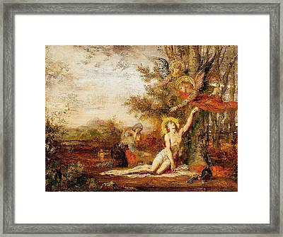 Christ With Angels Framed Print by Gustave Moreau