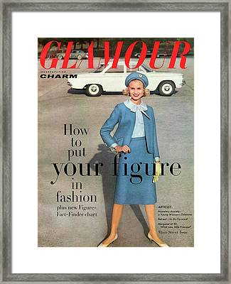 Christa Vogel On The Cover Of Glamour Framed Print by Frances Mclaughlin-Gill