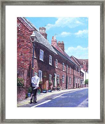 Christchurch Church Lane Framed Print by Martin Davey
