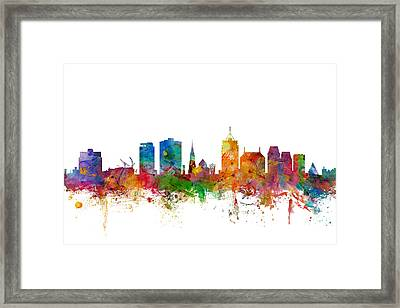 Christchurch New Zealand Skyline Framed Print