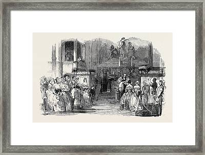 Christening Of The Infant Prince Arthur, In The Royal Framed Print by English School