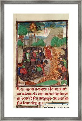 Christian Army Saved By Prayer Framed Print by British Library