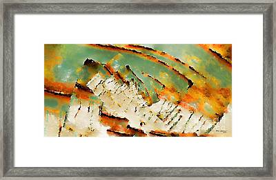 Christian Art- A New Earth. 2 Peter 3 13 Framed Print