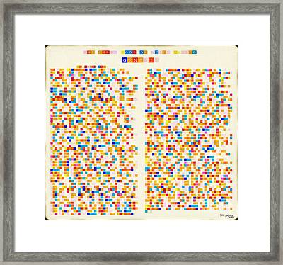 Christian Art- Color Alphabet Mosaic- Genesis Chapter One Framed Print by Mark Lawrence