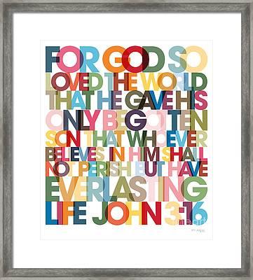 Christian Art- John 3 16 Versevisions Poster Framed Print