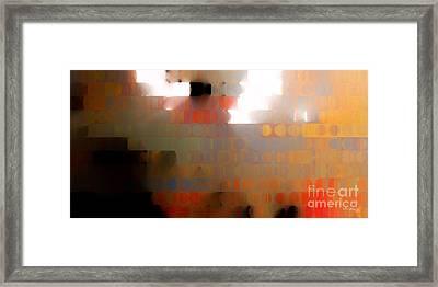 Christian Art- Wall Of Separation. Ephesians 2 14  Framed Print