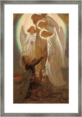 Christian At The Foot Of The Cross Framed Print