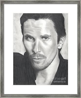 Christian Bale Framed Print