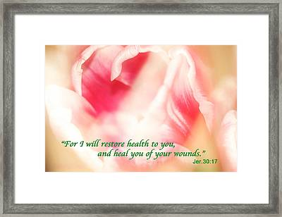 I Will Restore Health To You  Framed Print
