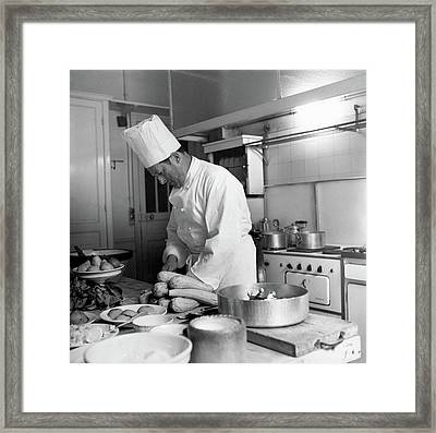 Christian Dior's Private Chef Framed Print by Horst P. Horst