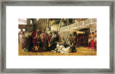 Christian Dirce In The Circus Of Nero Framed Print by Pg Reproductions