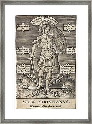 Christian Knight, Hieronymus Wierix, Girolamo Olgiati Framed Print by Hieronymus Wierix And Girolamo Olgiati