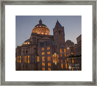 Framed Print featuring the photograph Christian Science Center 2 by Mike Ste Marie
