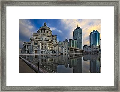 Christian Science Center Boston Framed Print by Susan Candelario