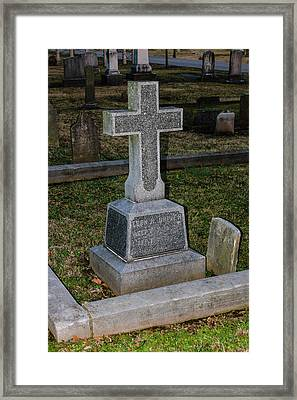 Christian Tombstone Framed Print