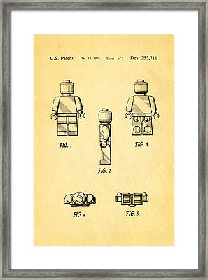 Christiansen Lego Figure 2 Patent Art 1979 Framed Print by Ian Monk