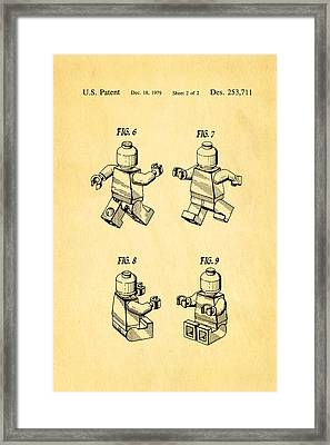 Christiansen Lego Figure 3 Patent Art 1979 Framed Print by Ian Monk