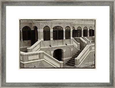 Christiansted National Historic Fort Sepia Framed Print by Iris Richardson