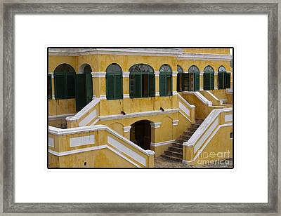 Christiansted National Historic Fort With Border Framed Print