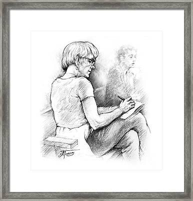 Christie Blatchford In Court Framed Print