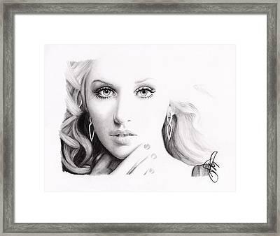 Christina Aguilera 2 Framed Print by Rosalinda Markle