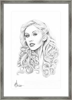 Christina Aguilera Framed Print by Murphy Elliott
