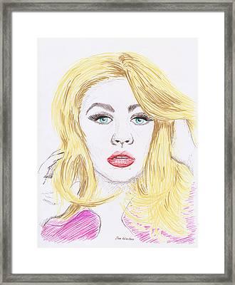 Christina Aguilera Sketch Framed Print