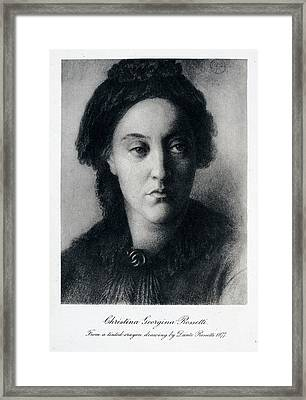 Christina Rossetti Framed Print by British Library