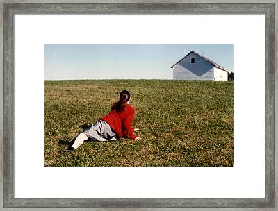 Christina's World Relived Framed Print by Laura Corebello