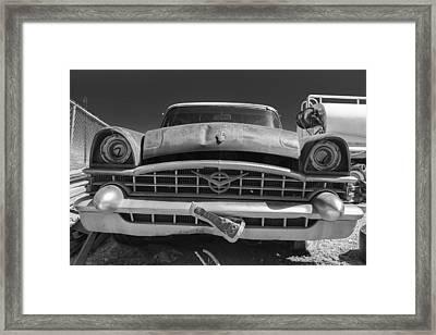 Forgotten 53 Packard Black And White Framed Print