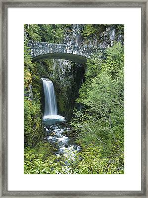 Christine Falls At Mt. Ranier Framed Print by Sandra Bronstein