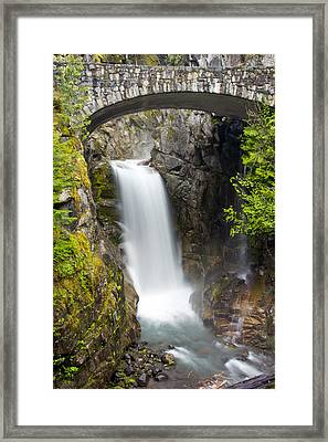 Framed Print featuring the photograph Christine Falls by Bob Noble Photography