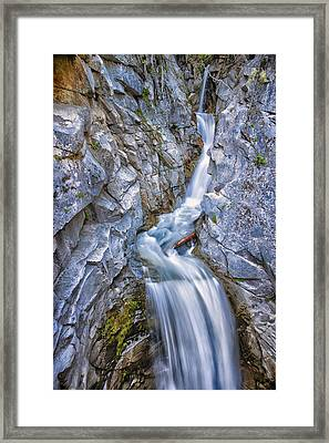 Christine Falls In Mount Rainier National Park Framed Print by Adam Romanowicz