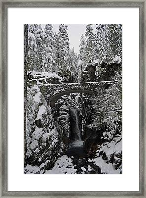 Framed Print featuring the photograph Christine Falls In The Winter by Tikvah's Hope