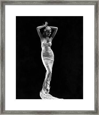 Christine Maple In A Sheath Dress Framed Print