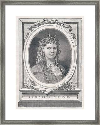 Christine Nilsson (1843-1921) Swedish Framed Print by Mary Evans Picture Library