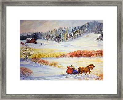 Christine's Ride Framed Print by Marilyn Smith