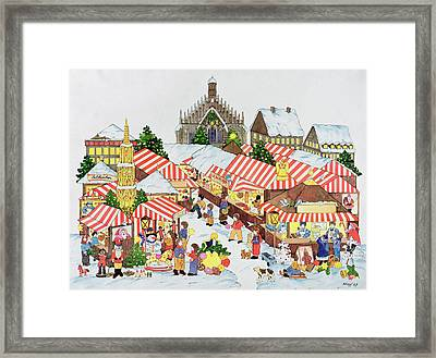 Christmas Market Framed Print by Christian Kaempf