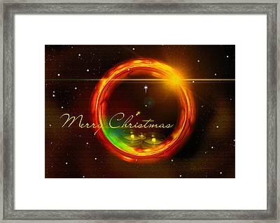 Christmas 001-featured On Cards For All Occasions-visions Of The Night-harmony And Happiness Groups Framed Print