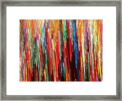 A Rainbow Melting  Framed Print