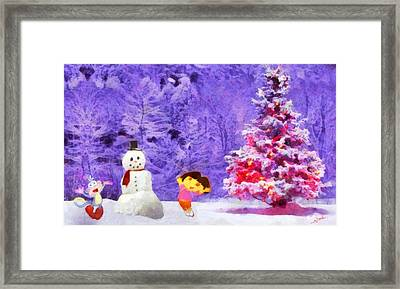 Christmas And Dora Framed Print by George Rossidis