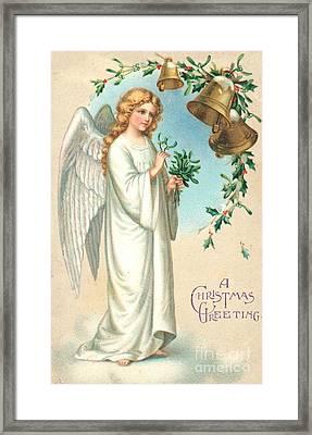 Christmas Angel Framed Print by English School